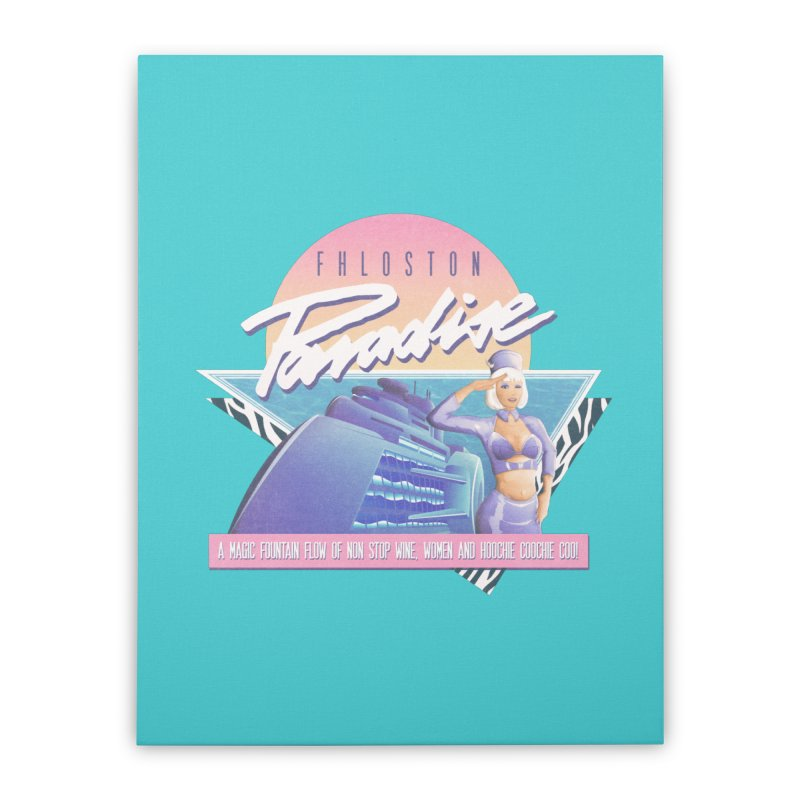Fhloston Paradise Home Stretched Canvas by Rolly Rocket - Retro Futuristic Art