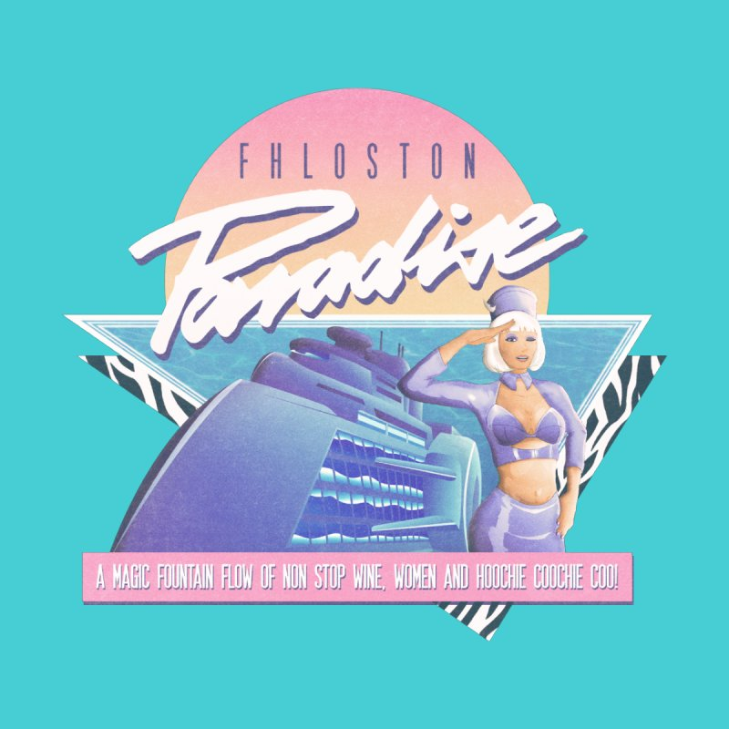 Fhloston Paradise Men's T-Shirt by Rolly Rocket - Retro Futuristic Art