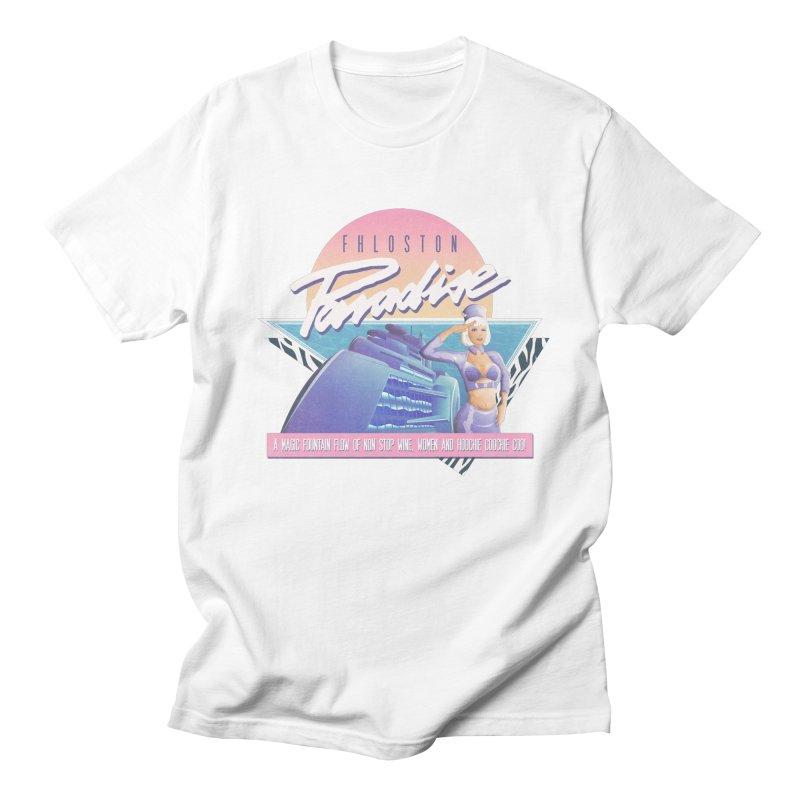 Fhloston Paradise Men's T-Shirt by Rolly Rocket - Retro Futuristic Art