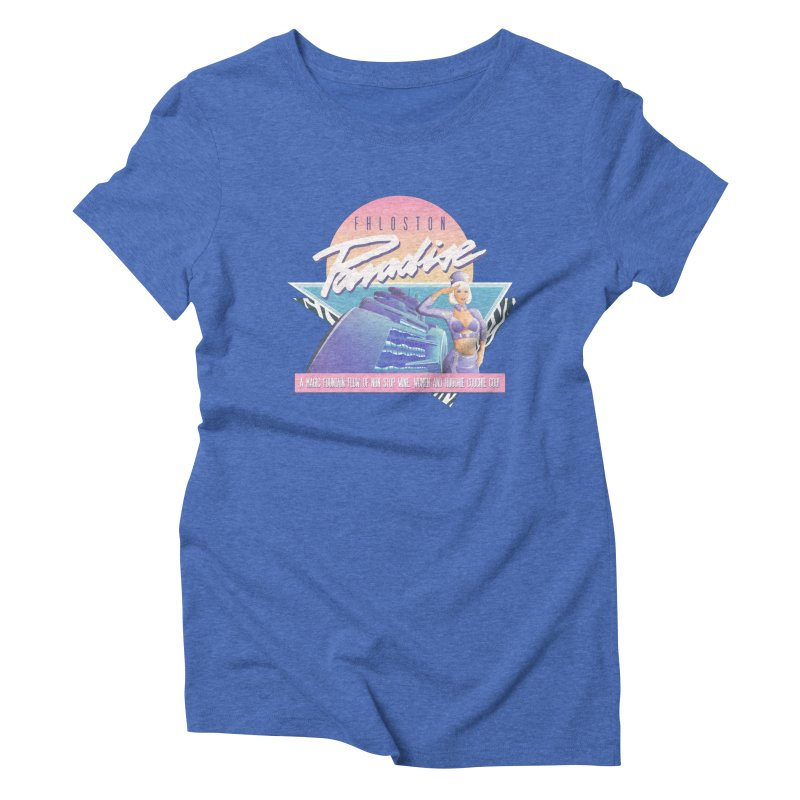 Fhloston Paradise Women's Triblend T-Shirt by Rolly Rocket - Retro Futuristic Art