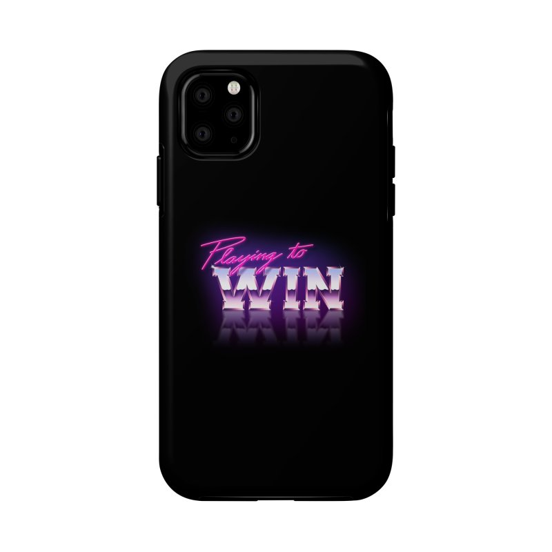 Playing To Win Accessories Phone Case by Rolly Rocket - Retro Futuristic Art