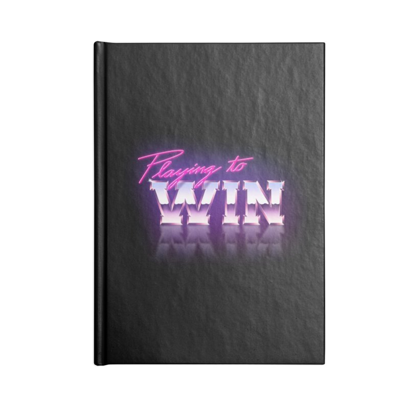 Playing To Win Accessories Lined Journal Notebook by Rolly Rocket - Retro Futuristic Art