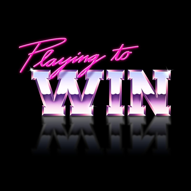 Playing To Win Women's T-Shirt by Rolly Rocket - Retro Futuristic Art