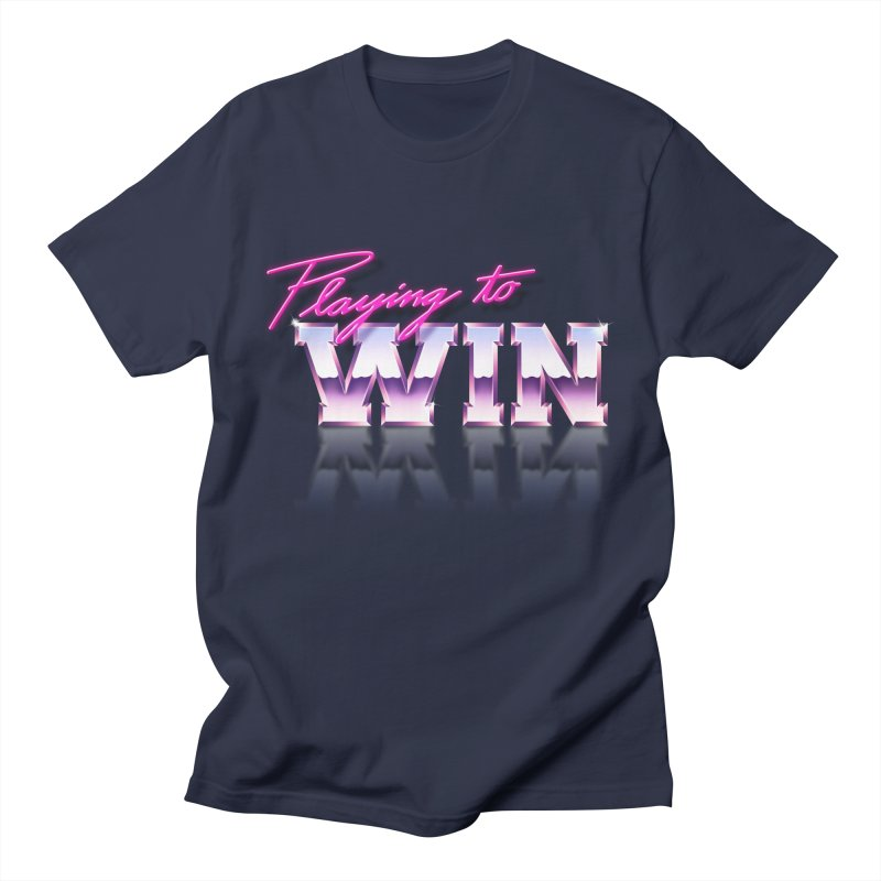 Playing To Win Women's Unisex T-Shirt by Rolly Rocket - Retro Futuristic Art