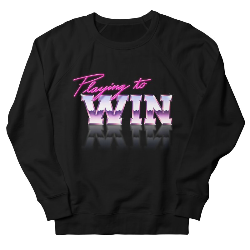 Playing To Win Men's French Terry Sweatshirt by Rolly Rocket - Retro Futuristic Art