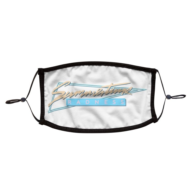 Summertime Radness Accessories Face Mask by Rolly Rocket - Retro Futuristic Art