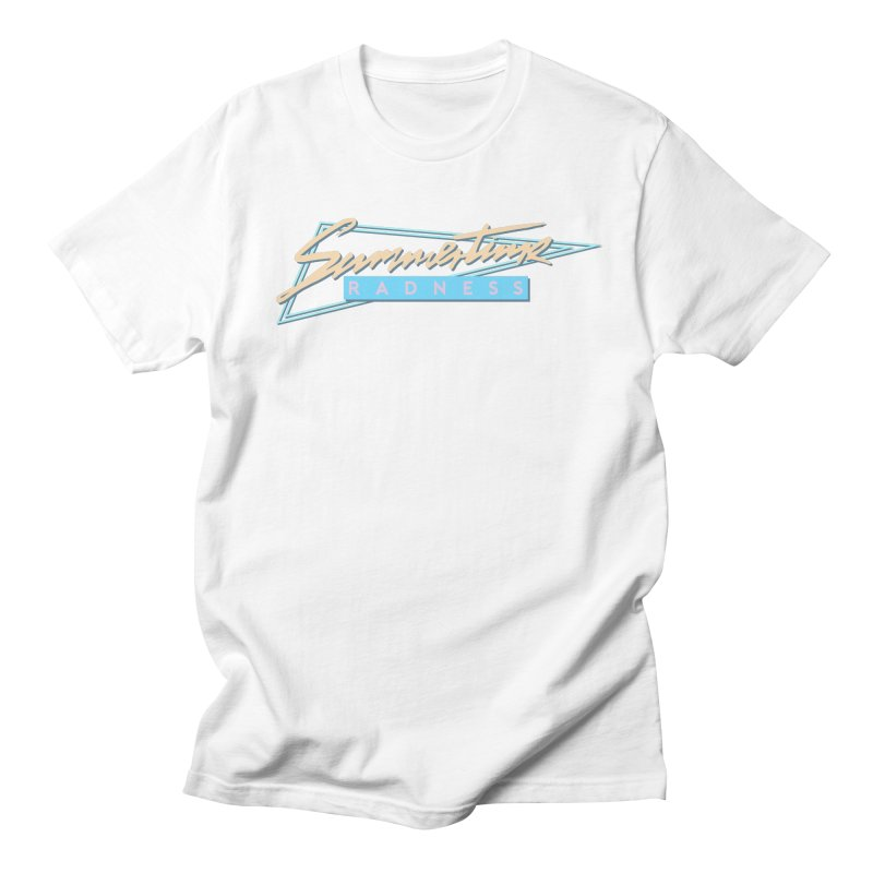 Summertime Radness Men's T-Shirt by Rolly Rocket - Retro Futuristic Art