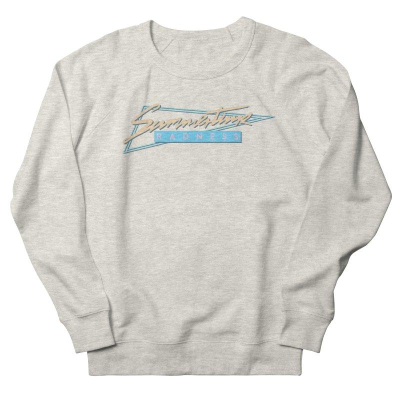 Summertime Radness Men's Sweatshirt by Rolly Rocket - Retro Futuristic Art