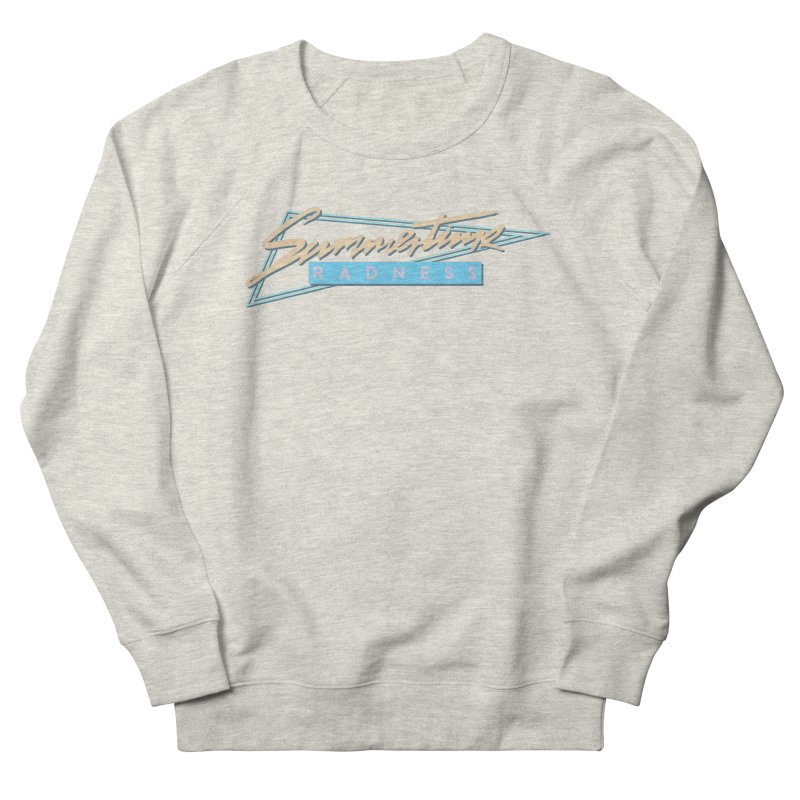 Summertime Radness Men's French Terry Sweatshirt by Rolly Rocket - Retro Futuristic Art