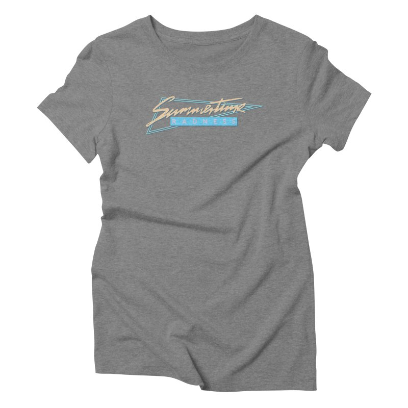 Summertime Radness Women's Triblend T-Shirt by Rolly Rocket - Retro Futuristic Art