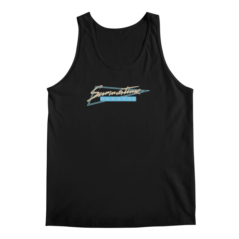 Summertime Radness Men's Tank by Rolly Rocket - Retro Futuristic Art