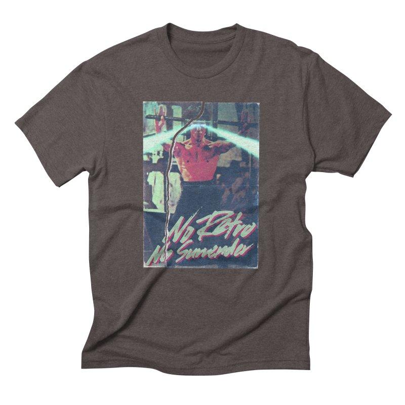 No Retro No Surrender Men's T-Shirt by Rolly Rocket - Retro Futuristic Art