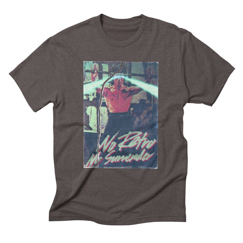 No Retro No Surrender Men's Triblend T-Shirt by Rolly Rocket - Retro Futuristic Art