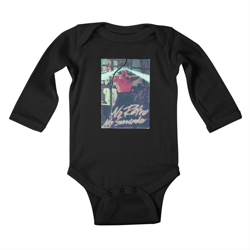 No Retro No Surrender Kids Baby Longsleeve Bodysuit by Rolly Rocket - Retro Futuristic Art