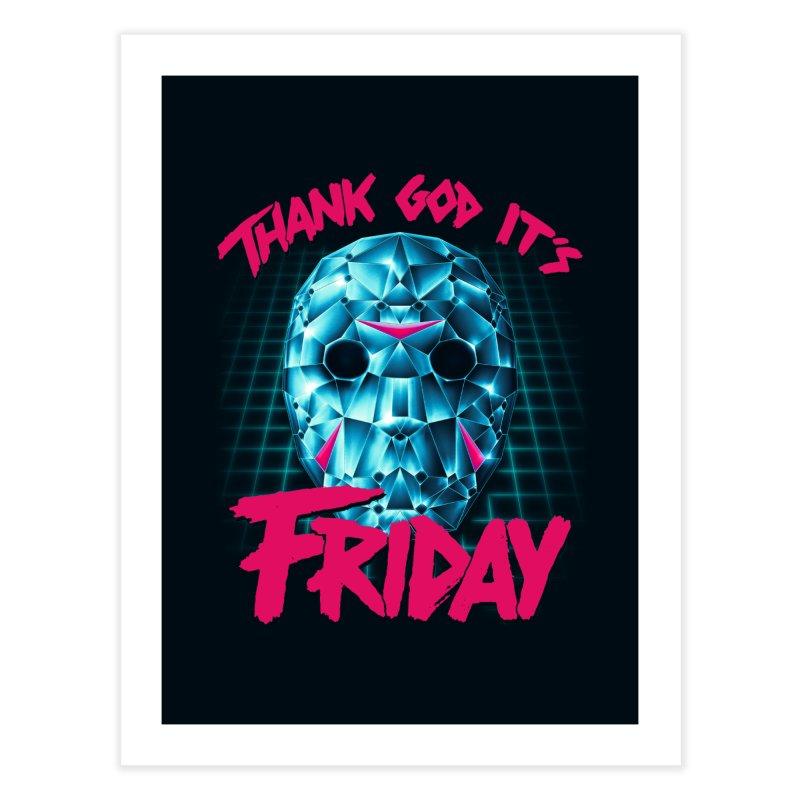 Thank God It's Friday Home Fine Art Print by Rolly Rocket - Retro Futuristic Art