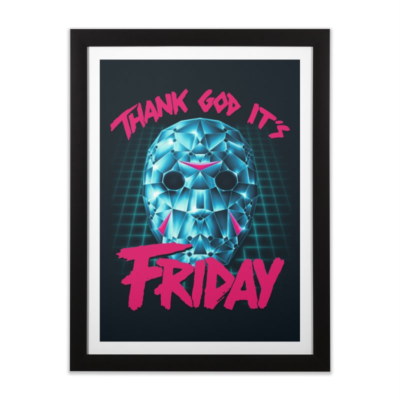 Thank God It's Friday Home Framed Fine Art Print by Rolly Rocket - Retro Futuristic Art