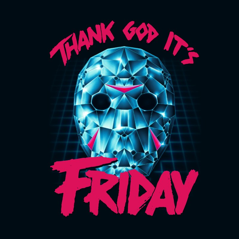 Thank God It's Friday Men's Zip-Up Hoody by Rolly Rocket - Retro Futuristic Art