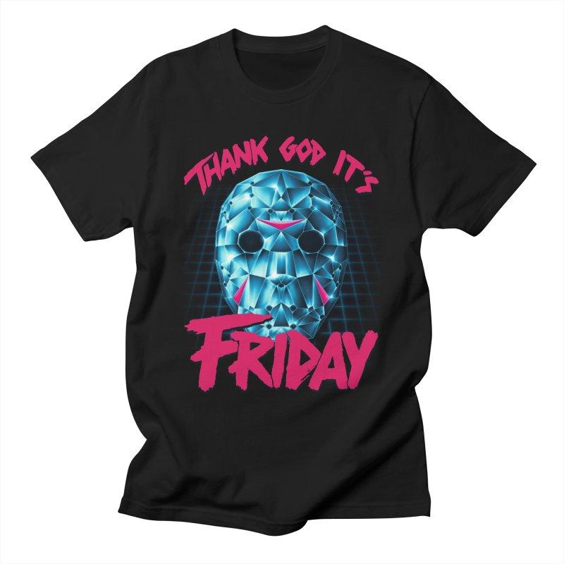Thank God It's Friday Men's T-Shirt by Rolly Rocket - Retro Futuristic Art