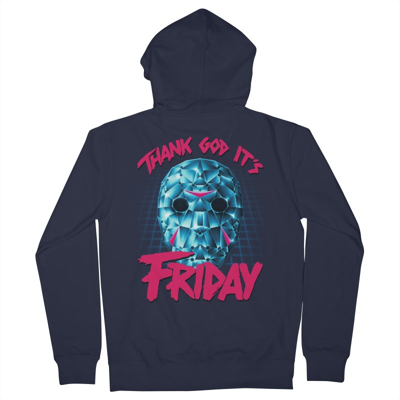 Thank God It's Friday Women's Zip-Up Hoody by Rolly Rocket - Retro Futuristic Art