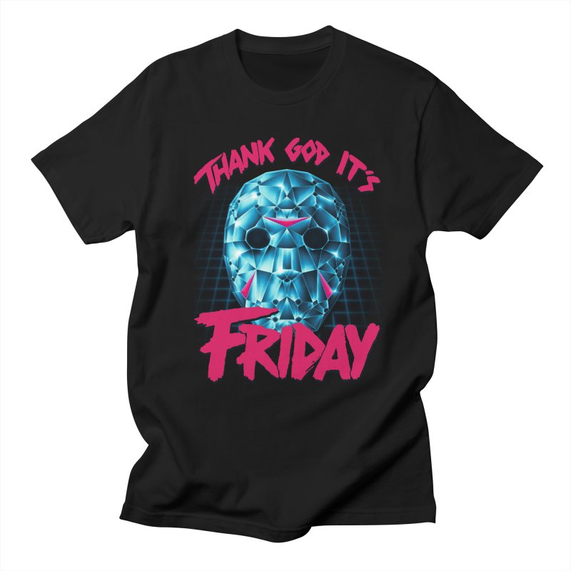 Thank God It's Friday Men's T-Shirt by Rolly Rocket - Retro Futuristic Art