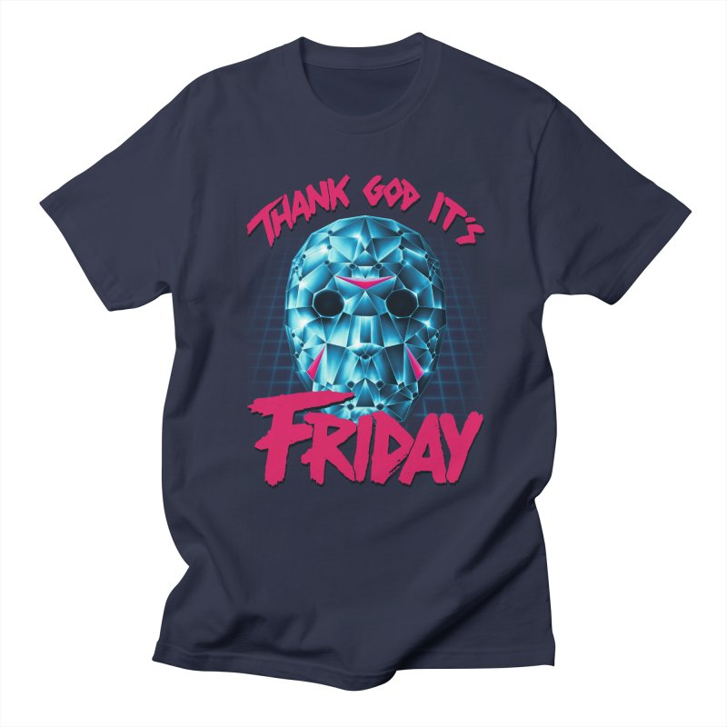 Thank God It's Friday Men's Regular T-Shirt by Rolly Rocket - Retro Futuristic Art