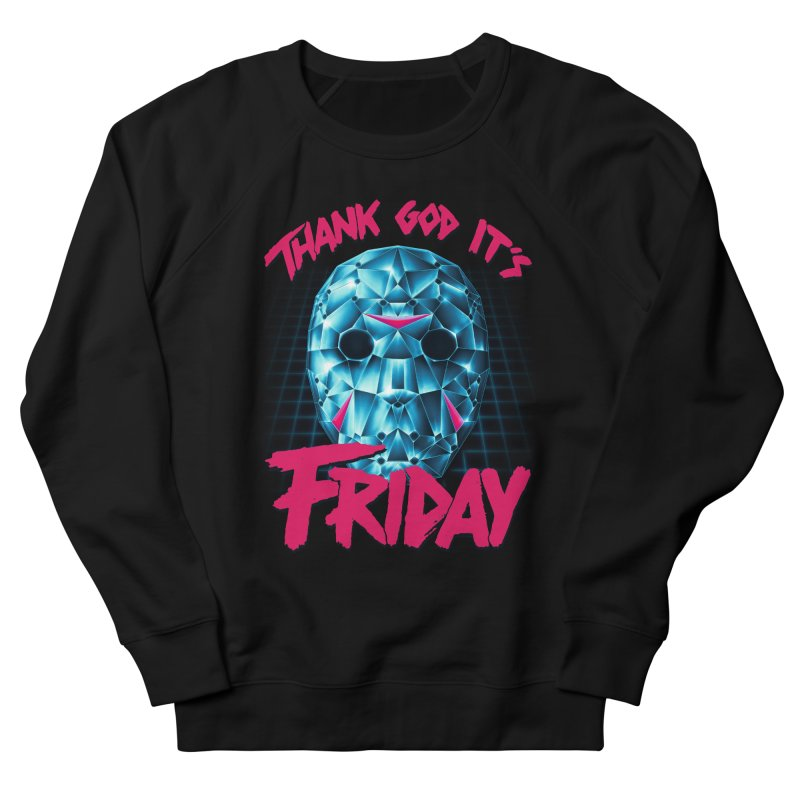 Thank God It's Friday Women's French Terry Sweatshirt by Rolly Rocket - Retro Futuristic Art