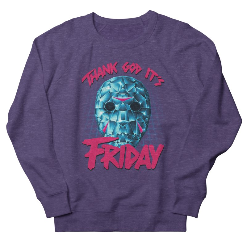 Thank God It's Friday Men's Sweatshirt by Rolly Rocket - Retro Futuristic Art