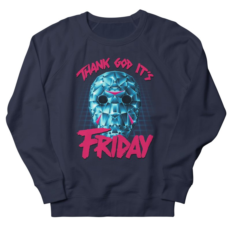Thank God It's Friday Men's French Terry Sweatshirt by Rolly Rocket - Retro Futuristic Art