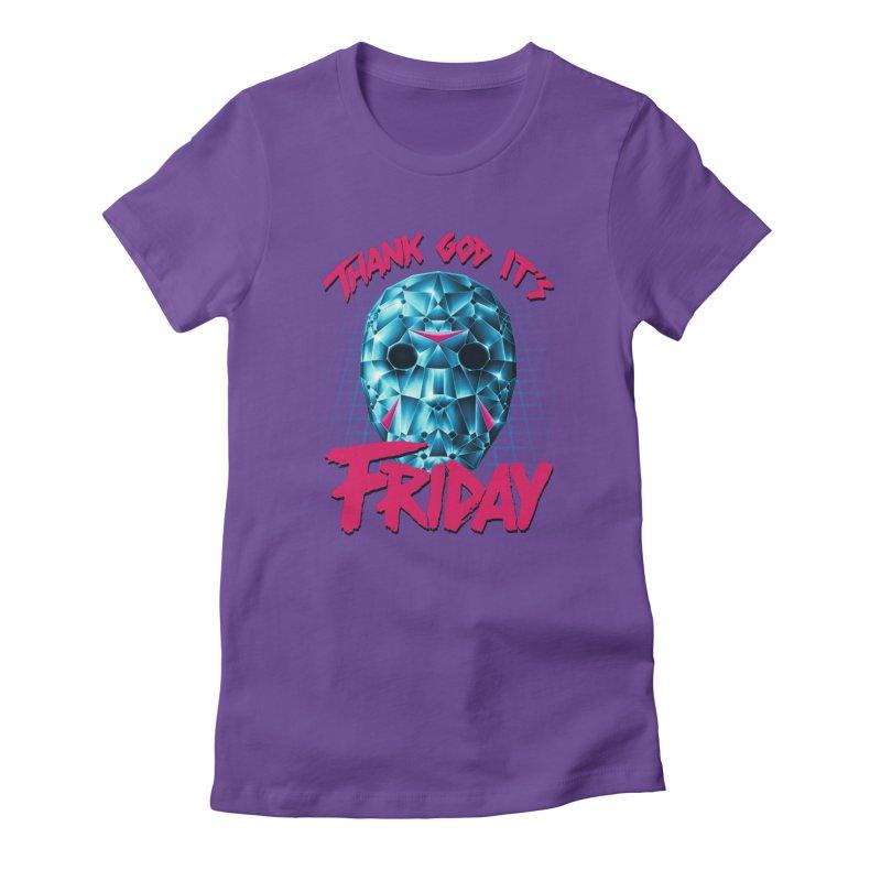 Thank God It's Friday Women's T-Shirt by Rolly Rocket - Retro Futuristic Art