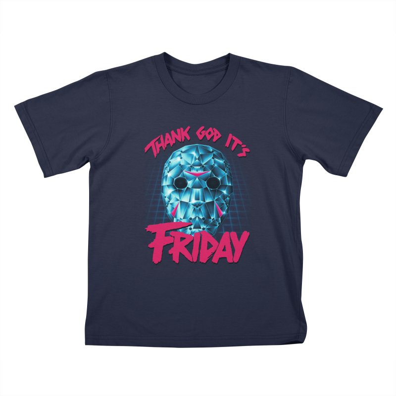 Thank God It's Friday Kids T-Shirt by Rolly Rocket - Retro Futuristic Art