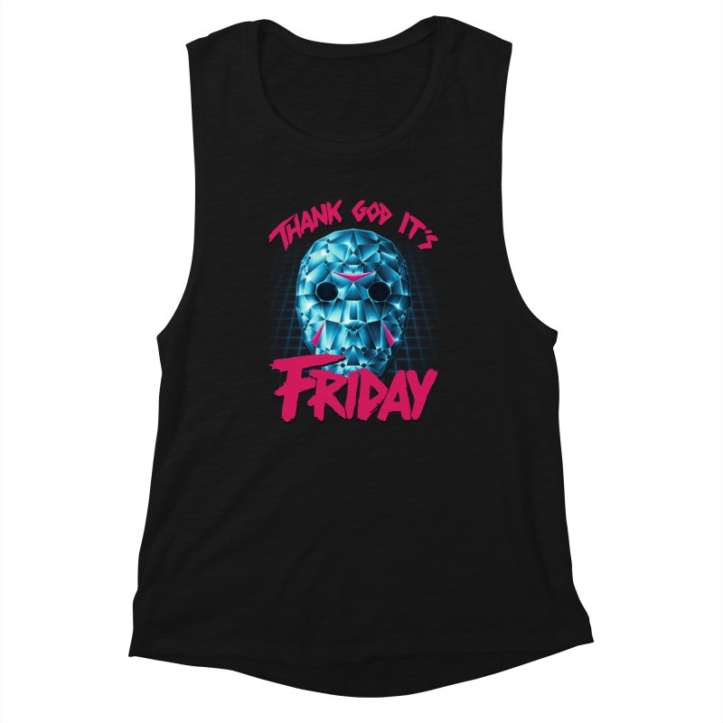 Thank God It's Friday Women's Tank by Rolly Rocket - Retro Futuristic Art