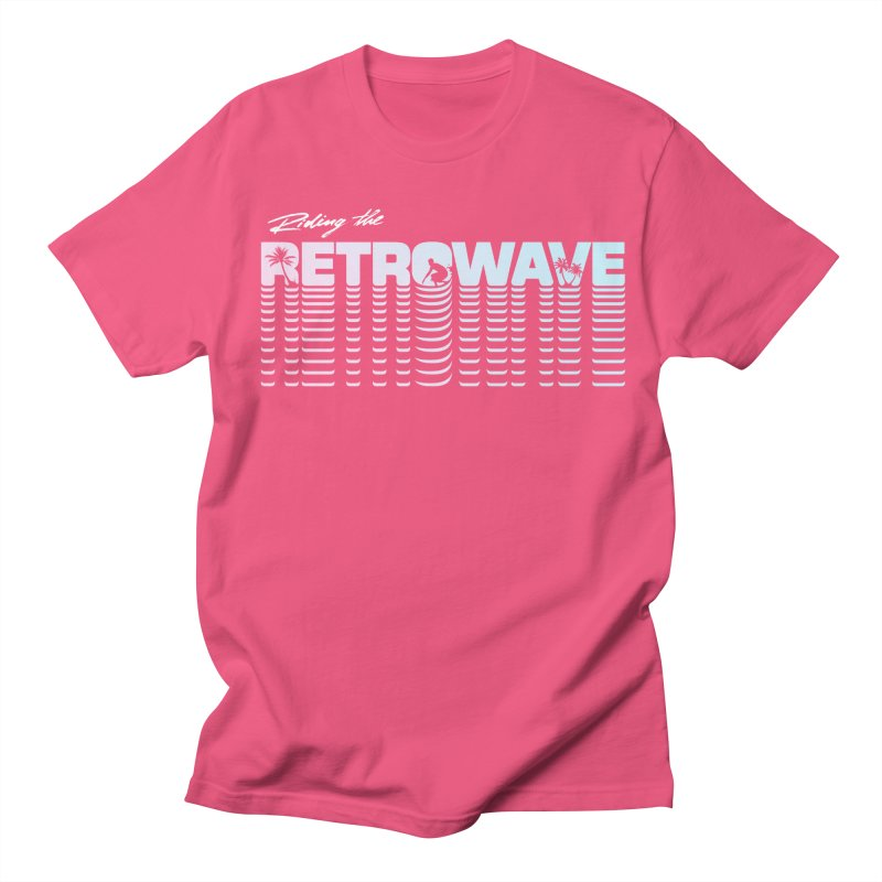 Riding the Retrowave Women's Regular Unisex T-Shirt by Rolly Rocket - Retro Futuristic Art