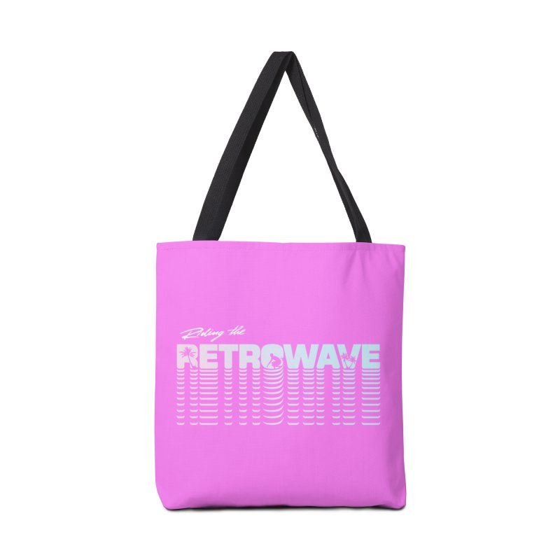 Riding the Retrowave Accessories Bag by Rolly Rocket - Retro Futuristic Art