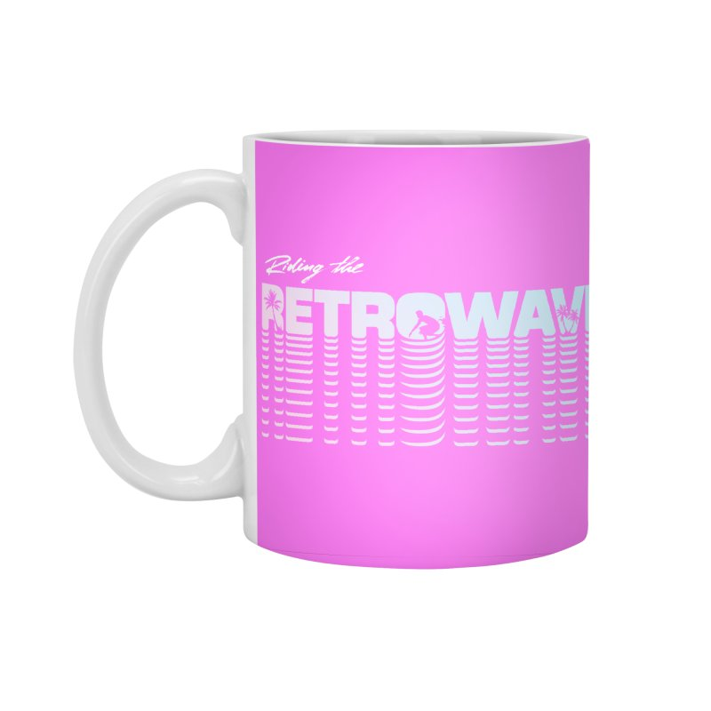 Riding the Retrowave Accessories Standard Mug by Rolly Rocket - Retro Futuristic Art