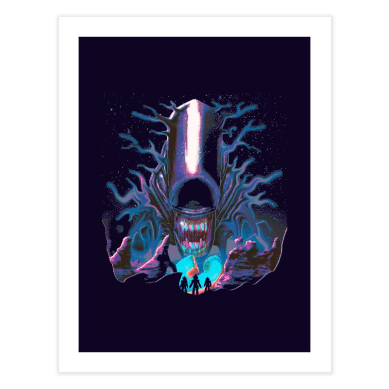 Aliens Donut Exist Home Fine Art Print by Rolly Rocket - Retro Futuristic Art