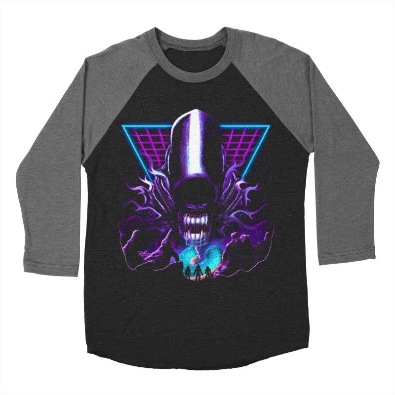 Aliens Donut Exist Men's Longsleeve T-Shirt by Rolly Rocket - Retro Futuristic Art