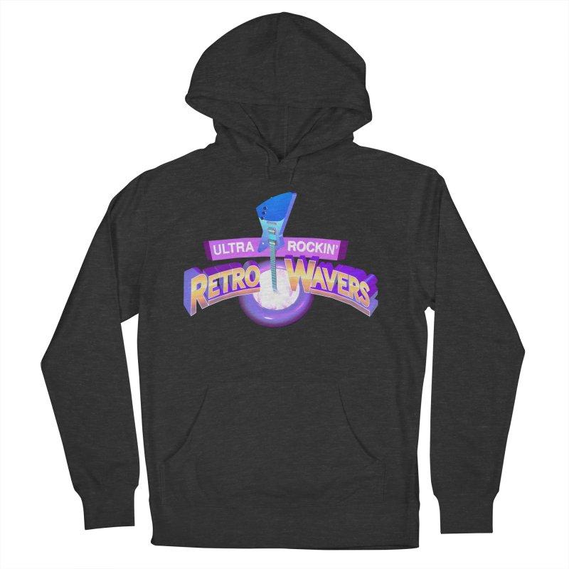 Retro Wavers Men's Pullover Hoody by Rolly Rocket - Retro Futuristic Art