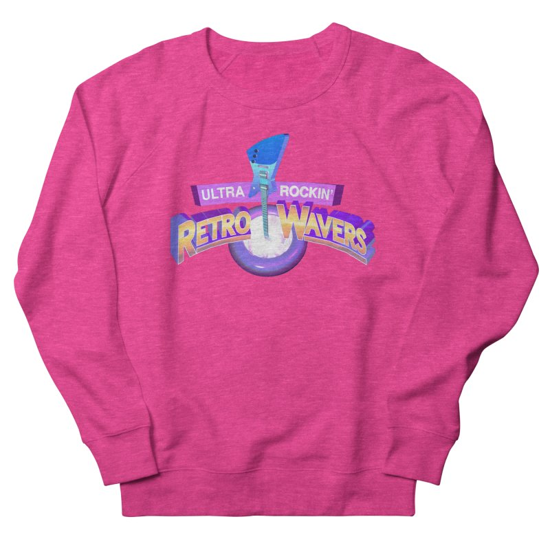 Retro Wavers Women's French Terry Sweatshirt by Rolly Rocket - Retro Futuristic Art