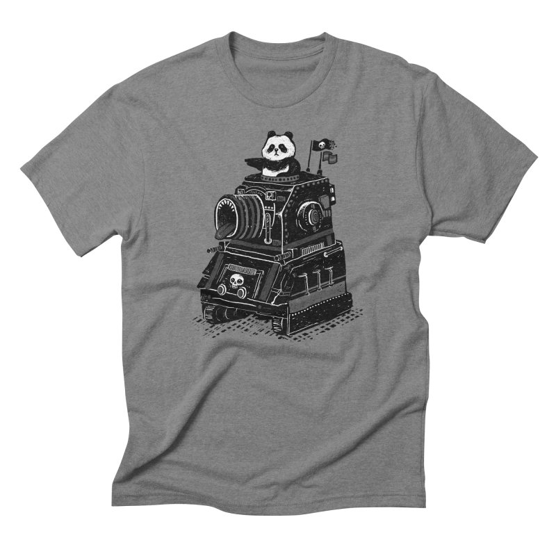 Panda's Terrible Tank of Terror Men's Triblend T-shirt by ronanlynam's Artist Shop