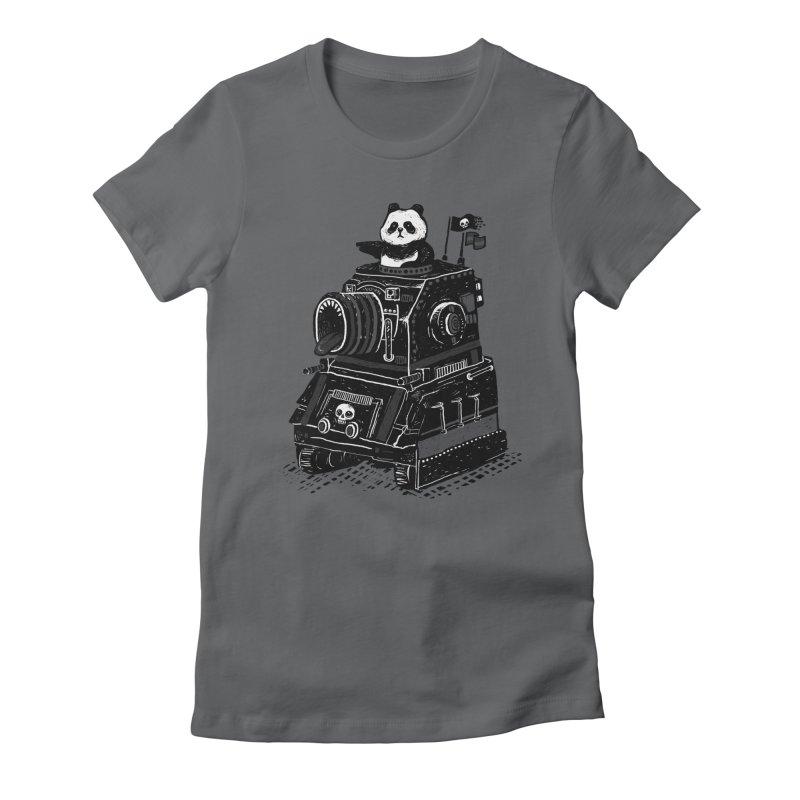 Panda's Terrible Tank of Terror Women's Fitted T-Shirt by ronanlynam's Artist Shop