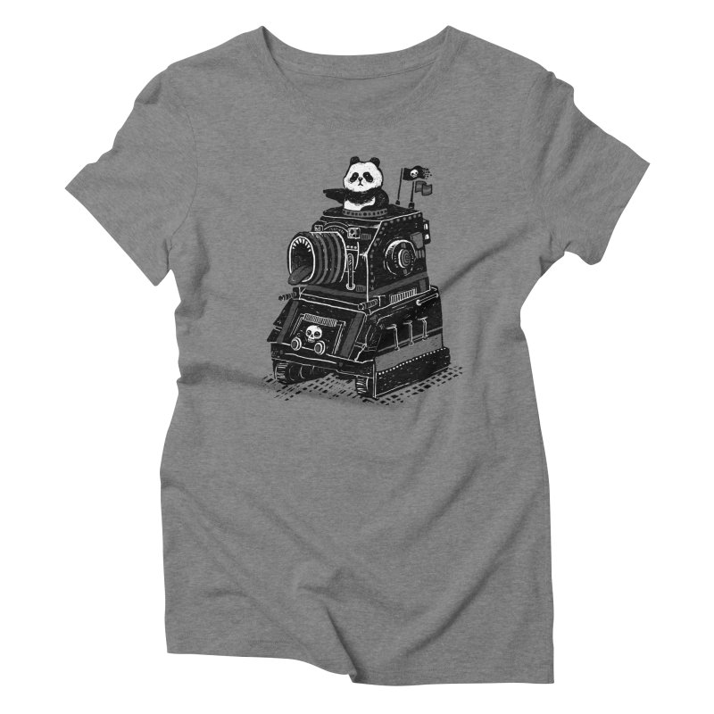 Panda's Terrible Tank of Terror Women's Triblend T-Shirt by ronanlynam's Artist Shop