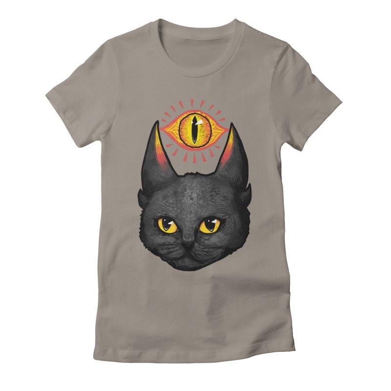 Saurpuss Women's Fitted T-Shirt by ronanlynam's Artist Shop