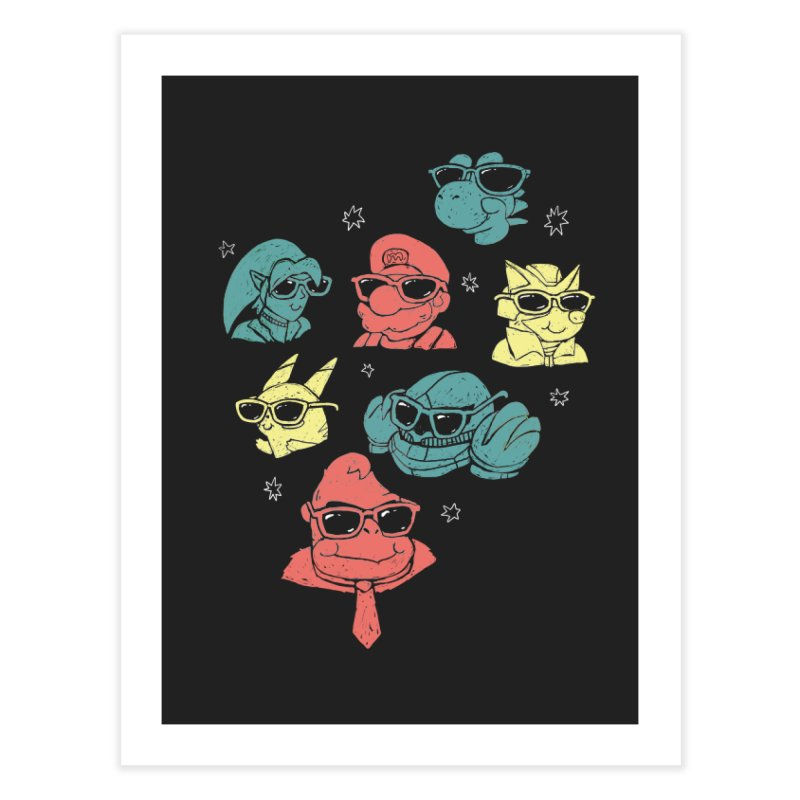Super Style Bros. Home Fine Art Print by ronanlynam's Artist Shop
