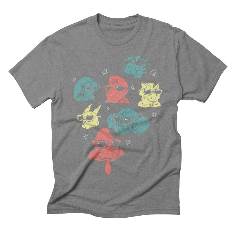 Super Style Bros. Men's Triblend T-shirt by ronanlynam's Artist Shop
