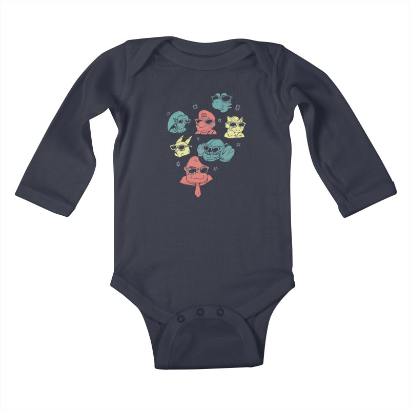 Super Style Bros. Kids Baby Longsleeve Bodysuit by ronanlynam's Artist Shop