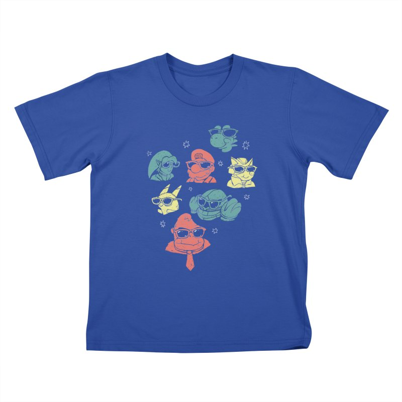 Super Style Bros. Kids T-Shirt by ronanlynam's Artist Shop