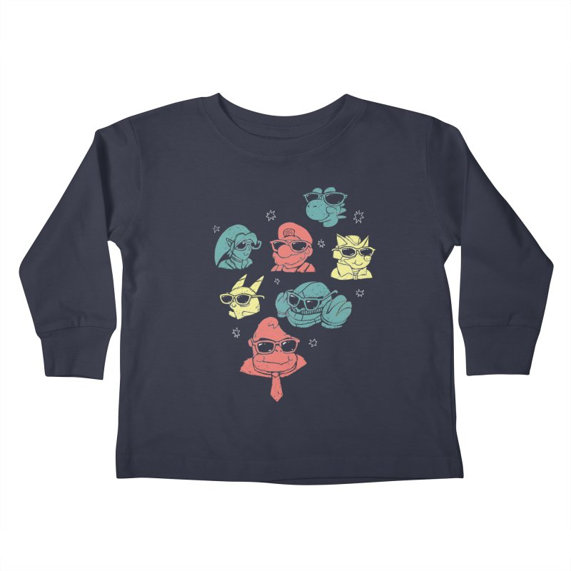 Super Style Bros. Kids Toddler Longsleeve T-Shirt by ronanlynam's Artist Shop