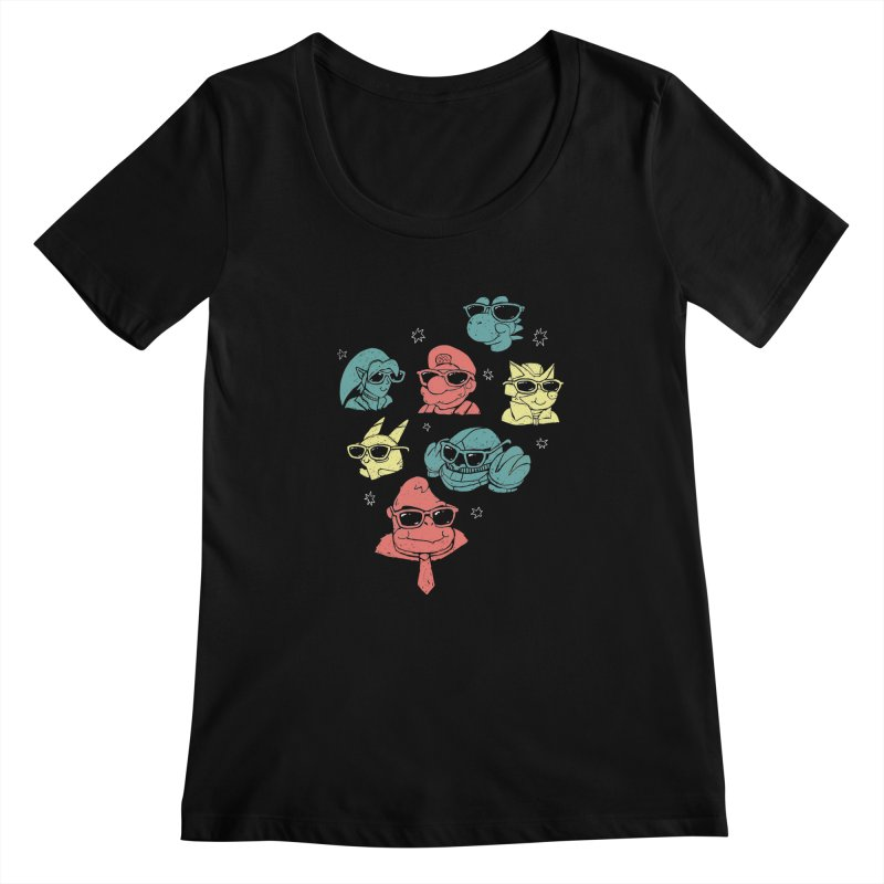 Super Style Bros. Women's Scoopneck by ronanlynam's Artist Shop