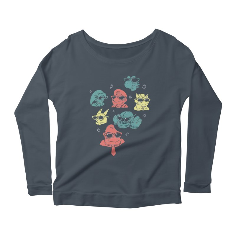 Super Style Bros. Women's Longsleeve Scoopneck  by ronanlynam's Artist Shop