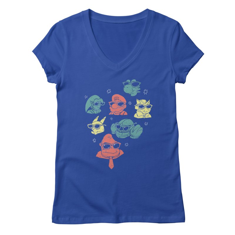Super Style Bros. Women's V-Neck by ronanlynam's Artist Shop